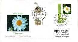 """BRD Schmuck-FDC  Freimarke Blumen """"Margerite"""", Mi. 2451 ESSt ZF 7.4.2005 BERLIN - FDC: Enveloppes"""
