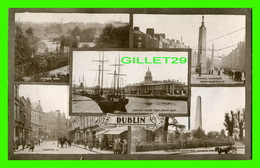 CARTE À SYSTÈMES - 5 MULTIVUES DE DUBLIN, IRLANDE + 12 PHOTOS DE DUBLIN & BELFAST PAR EASON & SON - - A Systèmes