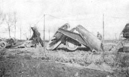 WW1 14-18 Canons Factices De Bois Démolis Par L'artillerie Allemande  1916 - 1914-18
