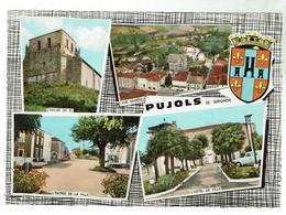 PUJOLS Multivues - Ciculée 1973-  Bon état - Francia