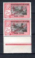 INDE N° 168 SURCHARGE PRANCE AU LIEU DE FRANCE  NEUFS SANS CHARNIERE COTE 47.85€   TEMPLE - India (1892-1954)