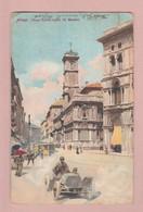 AK IT LO Milano Künstlerkarte Ges Aarau 08.11.1908 Nach Oawnpore Indien - Milano (Milan)