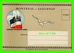 SAGUENAY - MONTRÉAL - LIVRET THE SAGUENAY TRIP BY CANADA STEAMSHIP LINES LTD - MAP + 20 PICTURES - - Saguenay