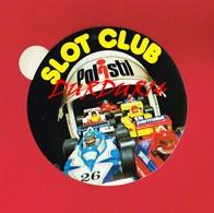 1 Autocollant SLOT CLUB POLISTIL AUTOMOBILE - Autocollants
