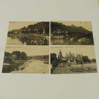 ESNEUX - 4 Cartes : L'Ourthe, Vue Vers Les Fonds Martin,Château, Le Pont; - Esneux