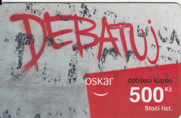 CZECH REPUBLIC - Debatuj, Oskar Prepaid Card 500 Kc(thin Plastic), Used - Czech Republic