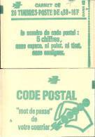 """CARNET 1970-C 1 Sabine """"CODE POSTAL"""" Carnet De 20 Timbres Fermé Avec R.E. Parfait état Bas Prix RARE. - Carnets"""