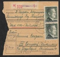 DR - 1944 - POLEN - SIEMIATITZE - PAKETBEGLEITSCHEIN EMPFANGSBESCHEINIGUNG - Allemagne
