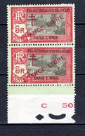 INDE N° 170 SURCHARGE PRANCE AU LIEU DE FRANCE  NEUFS SANS CHARNIERE COTE 48.60€  TEMPLE  VOIR DESCRIPTION - India (1892-1954)