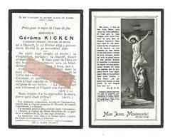 D 677. GEROME KICKEN - Capitaine Retraité -Officier De Milice - HASSELT 1835 / 1910 - Images Religieuses