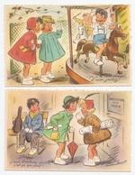 2 Cartes Postales Bouret Germaine :je Suis Chanteuse Réaliste, C'est ça Qui Me Plait - ça C'est Mon Cheval Et Mon Jockey - Bouret, Germaine