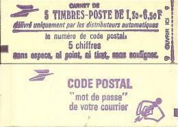 """CARNET 2059-C 1 Sabine """"CODE POSTAL"""" Fermé Bas Prix Parfait état RARE Et PEU PROPOSE. - Carnets"""