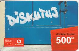 CZECH REPUBLIC - Diskutuj, Oskar Prepaid Card 500 Kc, Exp.date 10/09/07, Used - Czech Republic