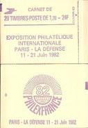 """CARNET 2101-C2 Sabine De Gandon """"PHILEXFRANCE 82"""" Daté 31/10/80 Fermé, Bas Prix, à Saisir. - Usage Courant"""