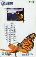 TARJETA TELEFONICA DE CHINA. MARIPOSAS. TJ-2003-1(4-2). (625). - Mariposas