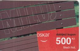 CZECH REPUBLIC - Miluj, Oskar Prepaid Card 500 Kc, Exp.date 10/09/07, Used - Czech Republic