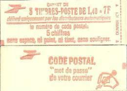 """CARNET 2102-C 1 Sabine De Gandon """"CODE POSTAL"""" Fermé Parfait état, Bas Prix, RARE. - Usage Courant"""