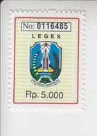Indonesië Fiscale Zegel Van 5000 Rp(leges= Zegelrecht=documentary) Iedere Zegel Andere Nummer - Indonesia