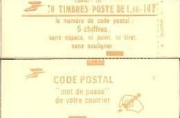 """CARNET 2102-C4 Sabine """"CODE POSTAL"""" Fermé Conf.9 Bas Prix état Parfait Soigné TRES RARE - Usage Courant"""