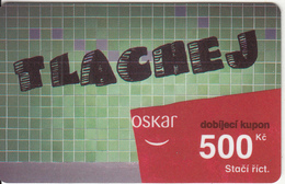 CZECH REPUBLIC - Tlachej, Oskar Prepaid Card 500 Kc, Exp.date 07/04/08, Used - Czech Republic