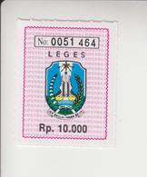 Indonesië Fiscale Zegel Van 10000 Rp(leges= Zegelrecht=documentary) Iedere Zegel Andere Nummer - Indonesia