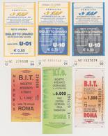 1338(6) ITALIA / ITALY / ITALIE. 6 Tickets / Billets / Biglietti / Billete: Udine & Roma / Rome (used). - Billetes De Transporte
