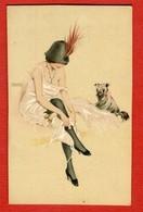 CPA Illustration RAPHAEL KIRCHNER - Riquette Et Son Chien - Kirchner, Raphael