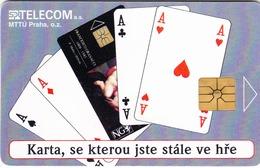 CZECH REPUBLIC - Cards Aces, 06/96, Tirage 3.000, Used - Czech Republic