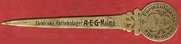 ** OUVRE - LETTRES   A. E. G.  MALMÖ ** - Ouvre-lettres