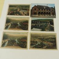 ESNEUX -  6 Cartes : Panoramas (2 Différents), Eglise, Les 3 Couronnes, Château Rond Chêne - Esneux