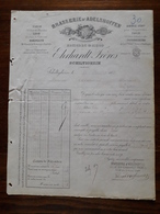 Ancienne Facture. Schiltigheim. Brasserie D'Adelshoffen . Ehrhardt Freres. 1885 - France