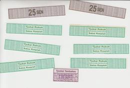 Indonesië Fiscale Zegel  Sigarettenstrookjes (Dai Nippon= Van Periode Japanese Bezetting) - Indonesia