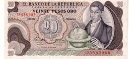 Colombia P.409 20  Pesos 1966 A-unc - Colombia
