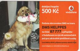 CZECH REPUBLIC - Dog, Vodafone Prepaid Card 500 Kc, Exp.date 24/09/12, Used - Czech Republic