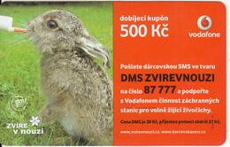 CZECH REPUBLIC - Rabbit, Vodafone Prepaid Card 500 Kc, Exp.date 24/09/12, Used - Czech Republic