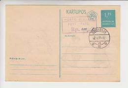 Indonesië Postkaart Met Bijfrankering Van Extra-port - Indonesia