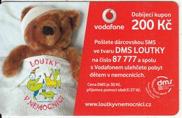 CZECH REPUBLIC - Teddy Bear, Loutky V Nemocnici, Vodafone Prepaid Card 200 Kc, Exp.date 22/01/14, Used - Czech Republic