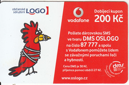 "CZECH REPUBLIC - Civil Association ""LOGO"", Vodafone Prepaid Card 200 Kc, Exp.date 01/04/14, Used - Czech Republic"
