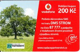 CZECH REPUBLIC - Foundation PARTNESTVI, Vodafone Prepaid Card 200 Kc, Exp.date 22/01/14, Used - Czech Republic