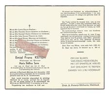 D 681. EMIEL KEYEN  Wed. Maria Serre - °KERSBEEK-MISKOM 1882 En Aldaar + 1959 - Images Religieuses