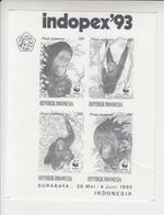 Indonesië Tentoonstellingsvelletje INDOPEX 93 - Indonesia