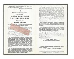 D 682. MARIA KELCHTERMANS  Echtg. J. Loos - Lid H.Hart En Vrouwengilde -  LINDE 1920 / 1955 - Images Religieuses