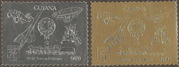 Guyana,  Michel OL # 3820-3821,  Issued 1992,  2 Singles,  MNH,  Cat $ 34.00,  Balloons - Guyana (1966-...)