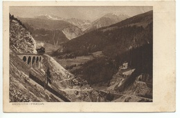 PREDA BERGÜN Albula Bahn Rhätische Bahn Chemin De Fer Rhétique Gel. 1915 Feldpost - GR Grisons
