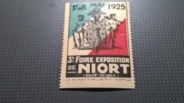 ERINNOFILI VIGNETTE CINDERELLA - 1925 EXPOSITION DE NIORT - Erinnofilia