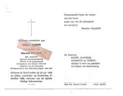 D 683. ODILON KNOPS -Ere-Senator /Off.Leopoldsorde/Med. Weerstand/Oorlogsmed.met Gekruiste Degens - ST-TRUIDEN 1905/1988 - Images Religieuses