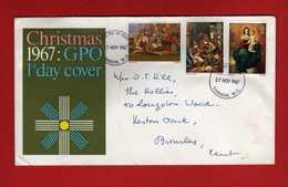 GB 1967 - FDC Christmas Commemorative Cover .   Vedi Descrizione. - FDC