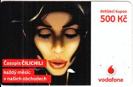 CZECH REPUBLIC - Girl, Vodafone Prepaid Card 500 Kc, Exp.date 16/11/09, Used - Czech Republic