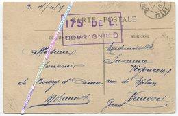 1915 / 175e RI / CACHET / COMPAGNIE D / CPA / BOURG D' OISANS / 175e RÉGIMENT D' INFANTERIE - Guerre 1914-18