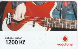 CZECH REPUBLIC - Guitar, Vodafone Prepaid Card 1200 Kc, Exp.date 02/12/08, Used - Czech Republic